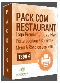 Création graphique de documents pour restaurant