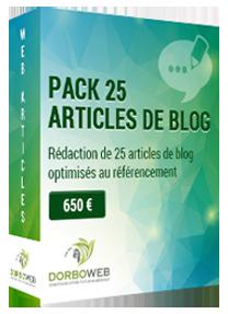 Rédaction de 25 articles de blog optimisés au référencement