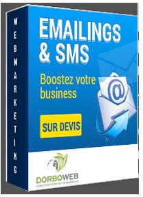 Découvrez notre offre webmarketing liée aux campagnes emailings et sms