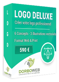 Création de votre logo profesionnel sur mesure pour 590 €
