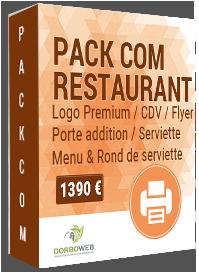 Création graphique de supports de communication pour restaurant
